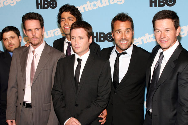Entourage: Mark with the cast of the hit show