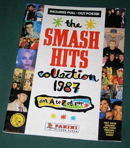 Smash hits sticker books