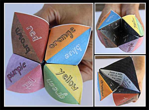 How To Make A Fortune Teller Origami