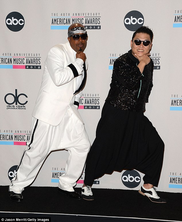 HAMMER TEAMS UP WITH YOUTUBE SENSATION PSY AT AMERICAN MUSIC